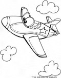 jet airplane coloring pages for kids
