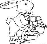 free printable easter bunny basket template to print out for kids