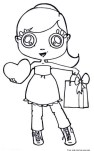 Cute girl valentines day coloring in sheets to print out for kids.