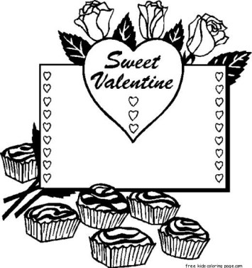 Valentine hearts coloring pages to print out for kids