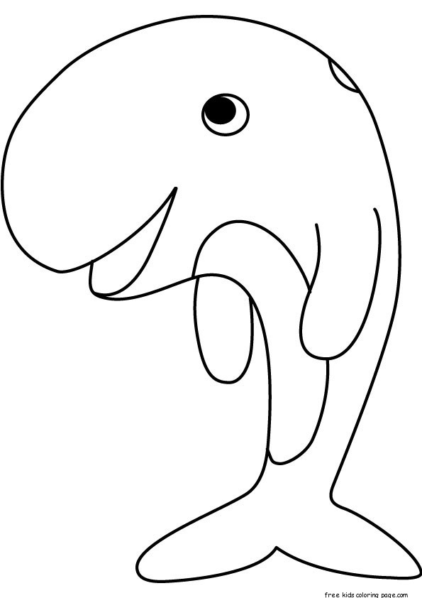 Printable Whale Coloring Pages PreschoolFree Printable