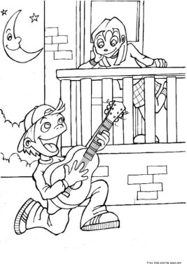 Pages to color for free valentine coloring pages