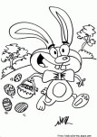 Print out easter bunny coloring in pages for kids.