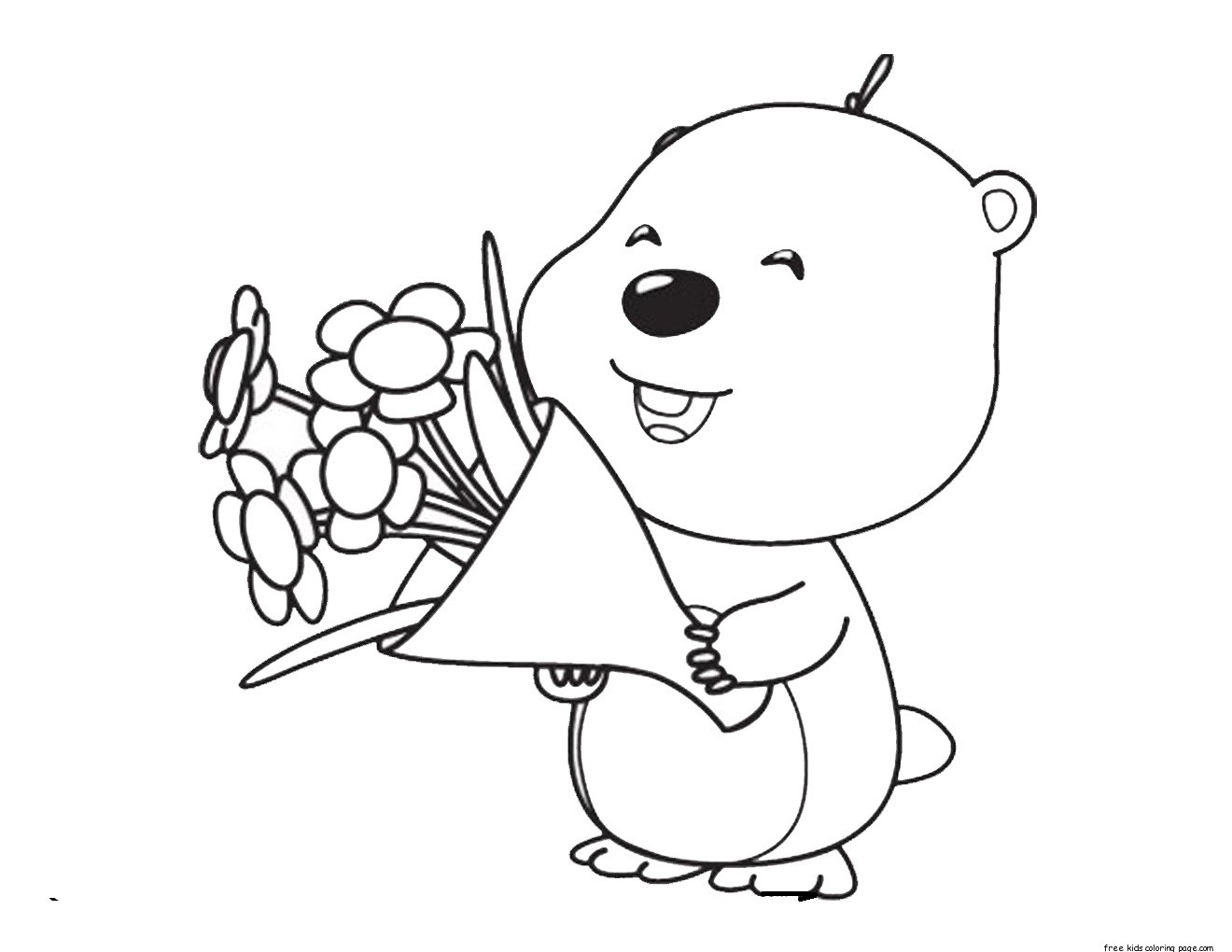 Printable Pororo The Little Penguin Loopy Coloring Pages