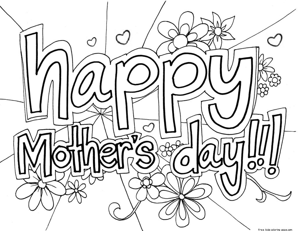Print Out Happy Mothers Day Grandma Coloring Page For