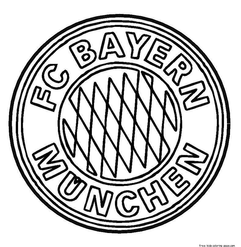 Printable bayern munich logo soccer coloring pages for