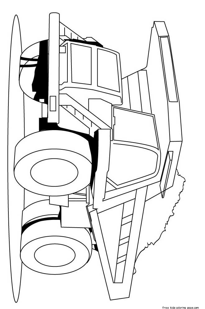 semi truck coloring pages for kidsfree printable coloring pages for