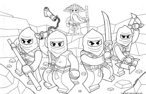 Printable coloring pages of ninjago