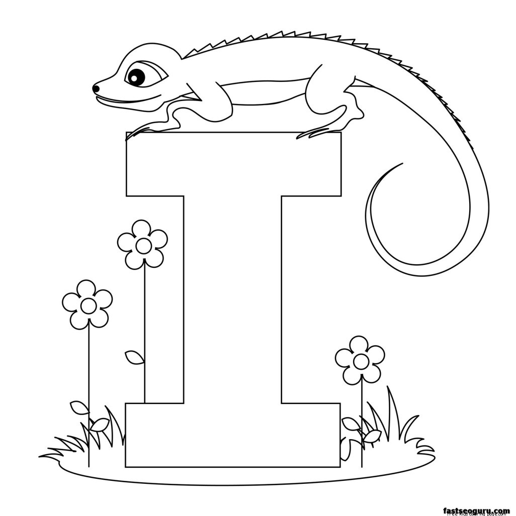 Printable Alphabet Worksheets Letter I For Iguana For