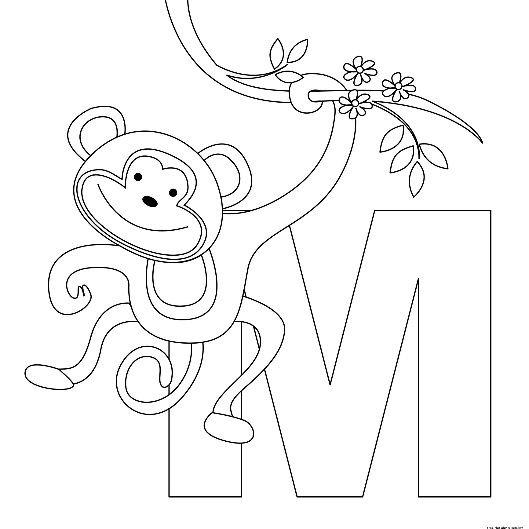letters m coloring pagesfree printable coloring pages for kids