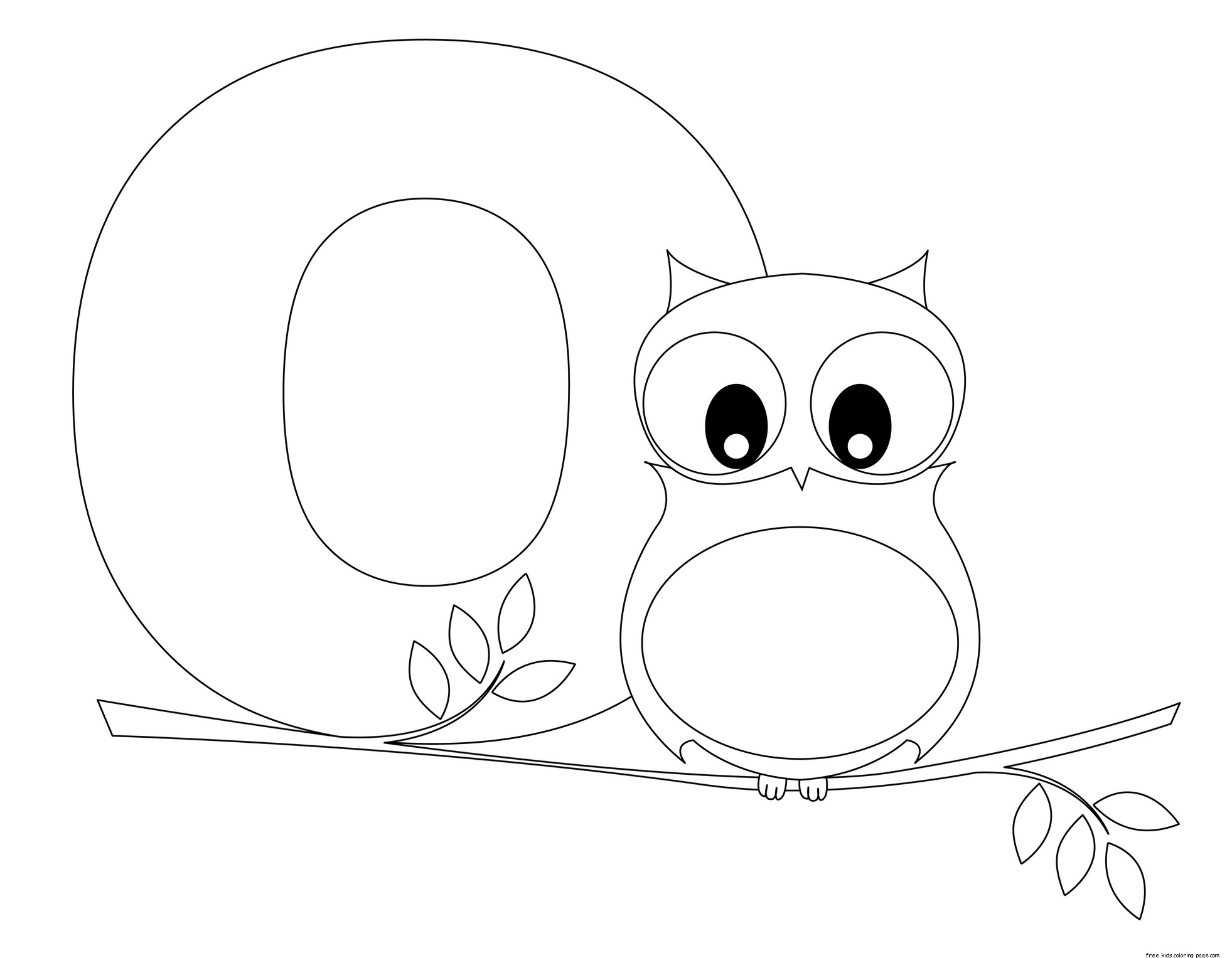 Printable Alphabet Letter O Worksheet Letter O Is For Owlfree Printable Coloring Pages For Kids