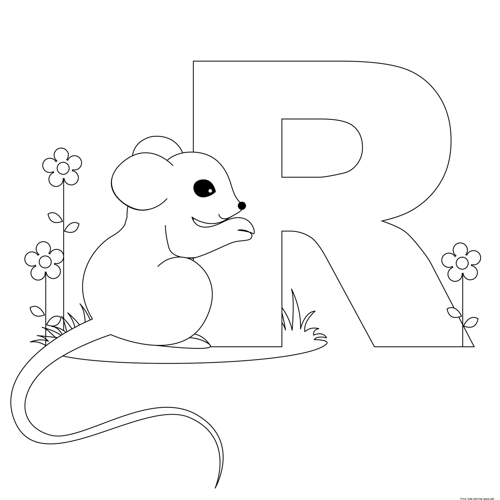 Letter R Coloring Pages Printable Coloring Pages