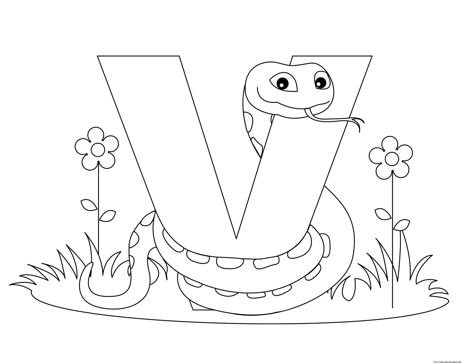 Printable Traceable Alphabet Letter V Worksheet For Viperfree Printable Coloring Pages For Kids