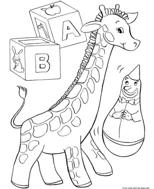Printable coloring pages of toys for christmas for kids