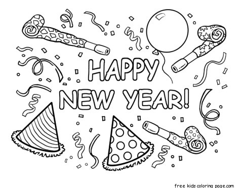 download coloring sheet for kindergarten happy new year coloring