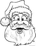 Santa claus face colouring page printable for kids book