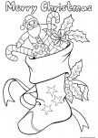 Christmas stockings candy and toys coloring sheets for kids to print out.