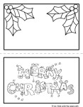 christmas card printable coloring pages print out for kids