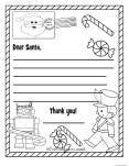 Printable christmas wish list to santa claus for kids