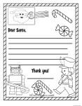 Printable christmas wish list to santa claus for kids