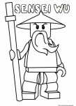 Printable lego Ninjago sensei wu coloring pages for kids