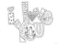 I love you valentine cards coloring pages