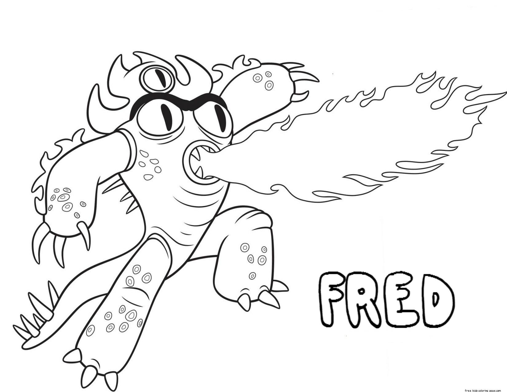Printable Big Hero 6 Coloring Pages Fred For Kidsfree Printable