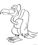 vulture bird coloring in page printable