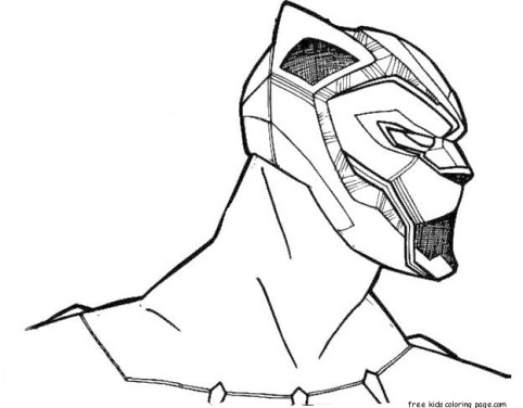 Black-Panther-Coloring-Pages