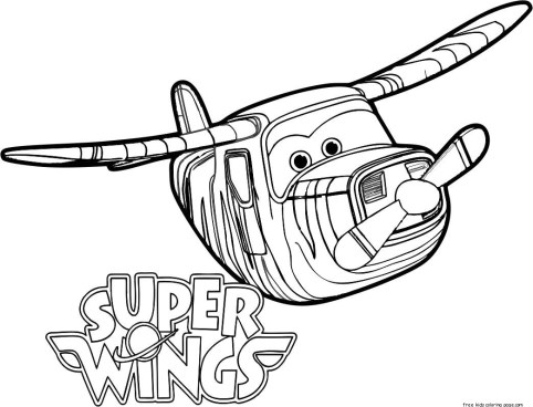 Free super wings bello coloring pages printable