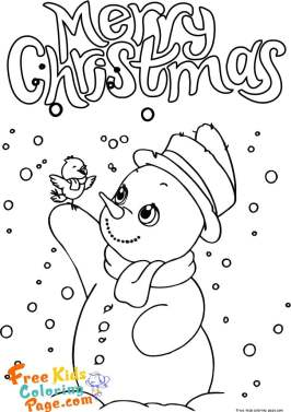 snowman christmas coloring sheets print out for kids