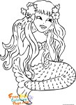 Kids coloring pages mermaid printable