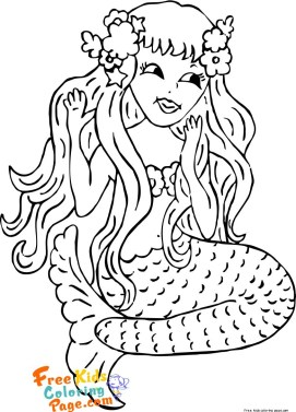 Kids coloring pages mermaid printable