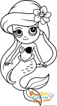 little mermaid cute baby ariel coloring pages