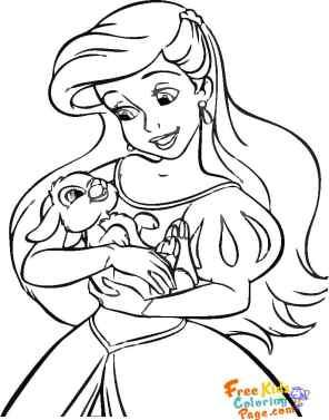 Belle disney princess coloring pages