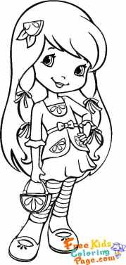 picture to color Strawberry shortcake cherry jam