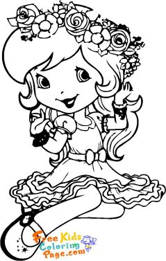 strawberry shortcake coloring pages cherry jam for kids to print out.