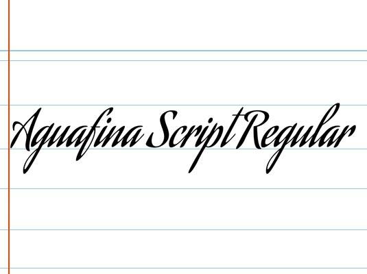шрифт Aquafina