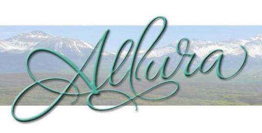 Шрифт Allura