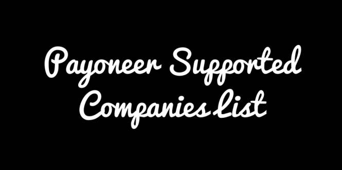 Payoneer Supported Partners