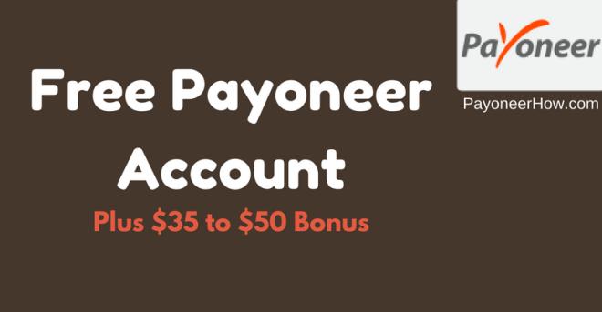 Free Payoneer MasterCard
