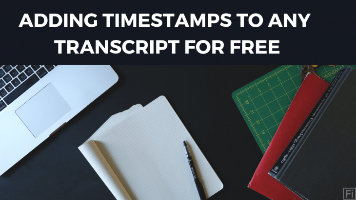 adding timestamps to transcripts
