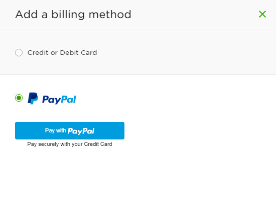 Add PayPal as a Billing Method