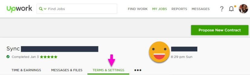 Terms and Settings of Contract on Upwork