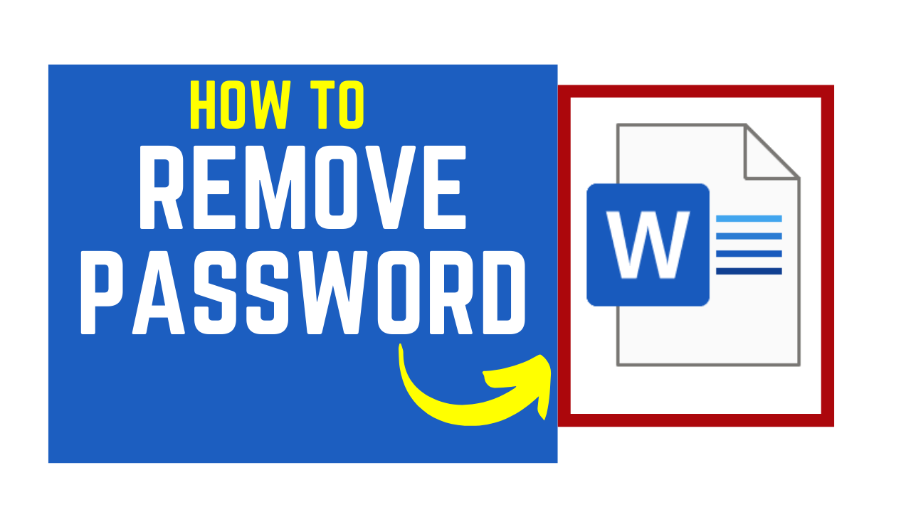 remove password from word document
