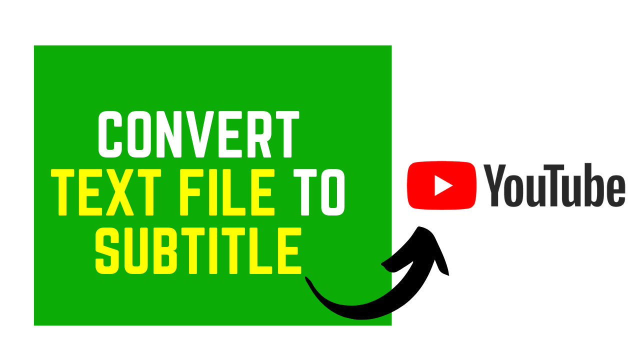 Convert Text File to SRT Subtitle Using YouTube Studio