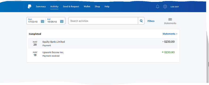 Upwork to PayPal