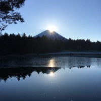 New Year Sun Rise of Mt. Fuji