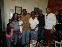 Me with my nieces: Quianna, Keylee, Nicole, my wife Tazza, mother and sister Karen