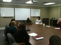 2012 Widener University, speaking to Judith Ritter's law students